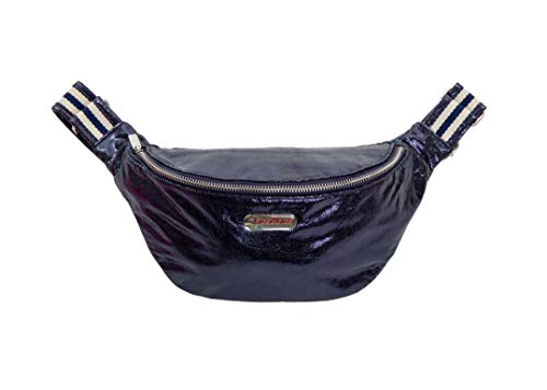 brasi&brasi Tasche Belt&Bag Stripe Glitter Dark Blu NEU!!