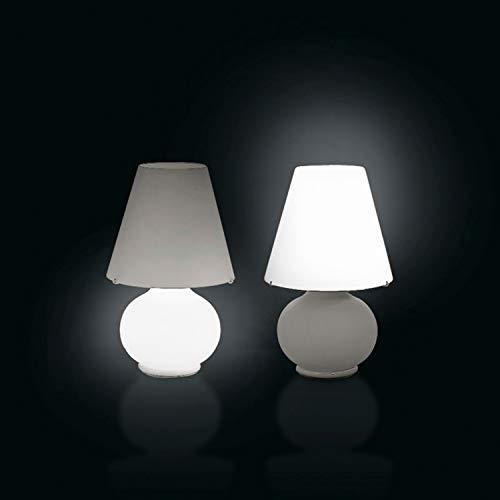 Leucos Paralume M 0406054363602 - Lámpara de mesa (cristal y metal), color blanco