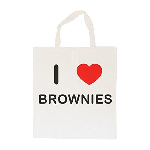 I Love Brownies - Bolsa de Tela de algodón