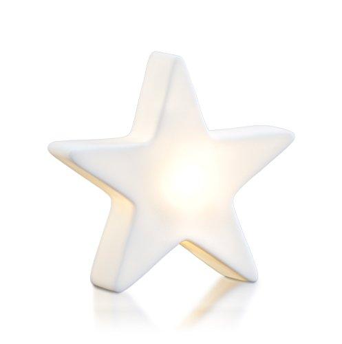 8 seasons design| Kleiner LED Stern Shining Star Micro XS (9,5 cm, Neu mit Batterie-Schutzfolie, kabellos, Dekostern, Sterngeschenk, Mitbringsel) weiß
