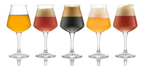 As Cervesa Kit 4 sabores degustación cata artesanal, Pack 12 Botellas de Vidrio de 33 cl. Birra, etilos weizen beer, ipa, Russian imperial stout, doble ipa