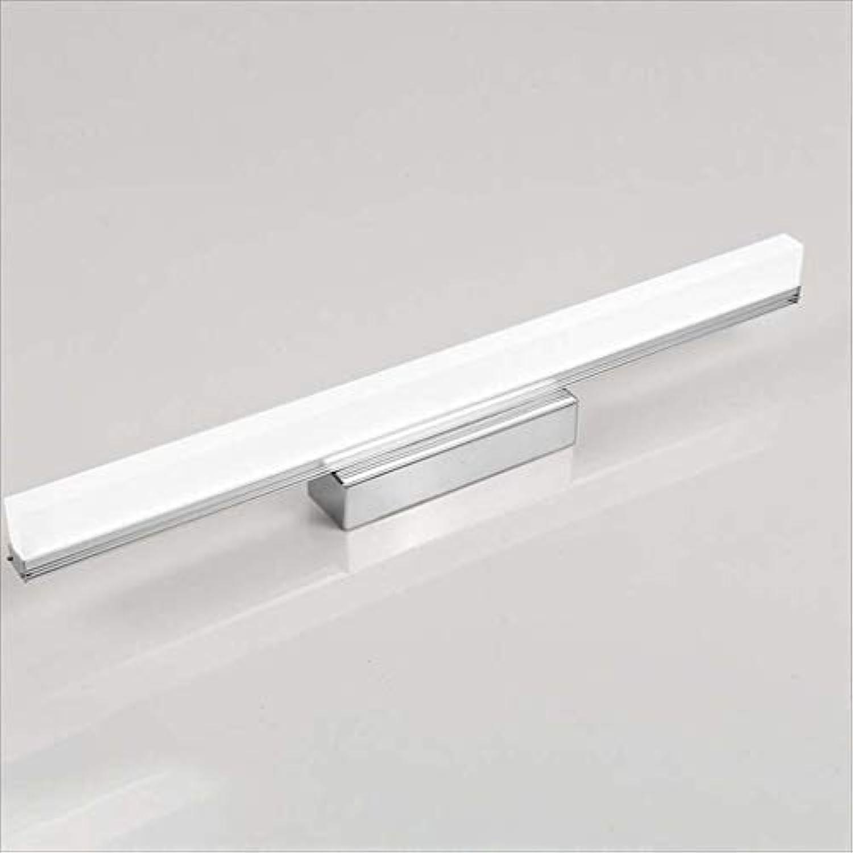 XRFHZT Anti-Wassernebel Edelstahl Wei ist wei geführte Badezimmer Make-up Spiegel Lampe,49cm12w
