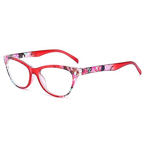 Reading Glasses Gafas de Lectura de Ojo de Gato para Personas de Mediana Edad y Personas Mayores, Las Patillas elásticas se Ajustan automáticamente, Son Ligeras, cómodas y fáciles de Llevar