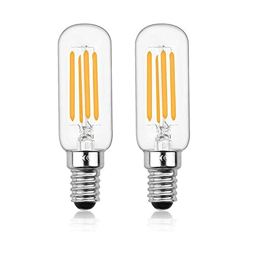Bonlux E14 Ampoule LED Dimmable, 4W T25 220V Ampoule à Filament LED Tubulaire, 40W Incandescent Équivalent, pour Four à Micro-onde, Réfrigérateur, Hotte(Lot de 2, Blanc Froid 6000K)
