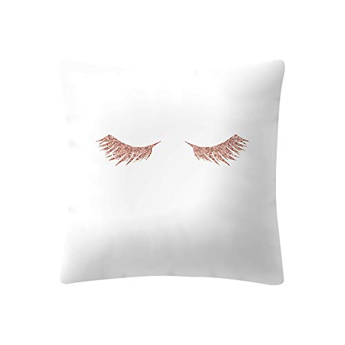 Dragon868 Kissen Hülle Rose Gold Pink Kissen Cover Square Pillowcase Wohndekoration 45x45 cm