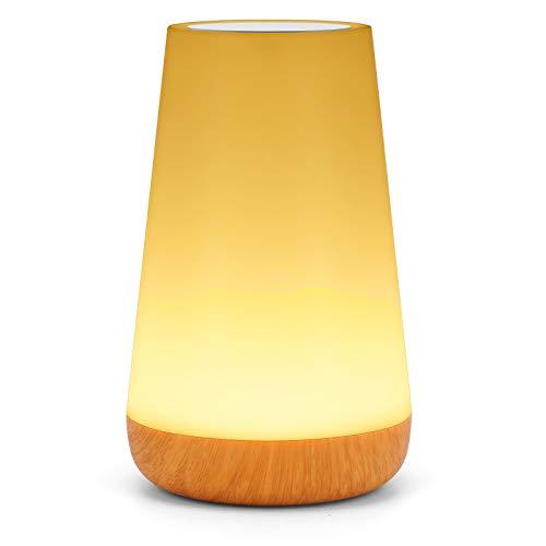 Cokvok LED Nachttischlampe Farbwechsel Tischlampe, Dimmbar Atmosphäre Nachtlicht mit 13 Farben und 3 Modi, Touch Nachttischlampe, Fernbedienung/Timing-Funktion, Stimmungslicht für Schlafzimmer