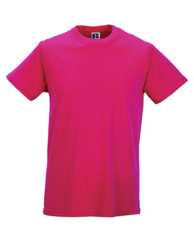 Russell Athletic - T-Shirt - Homme Blanc Blanc - Rose - Small