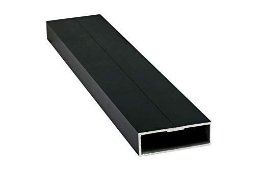 Alu-Unterkonstruktion System 20/60 Aluminium schwarz eloxiert, 2.000 x 20 x 60 mm (Alu-Unterkonstruktion 2.000 x 20 x 60 mm)