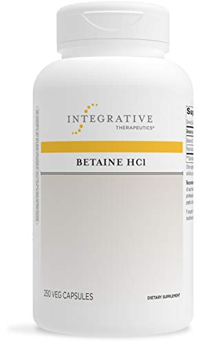 Integrative Therapeutics - Betaine HCI - Support for Healthy Stomach Acidity, Gastric Function, and Protein Digestion - 250 Capsules