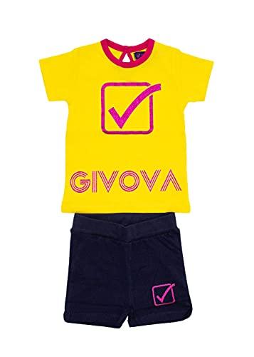 givova - Mono de verano para bebé de algodón compuesto por camiseta y pantalón corto bermuda, disponible en diferentes variantes