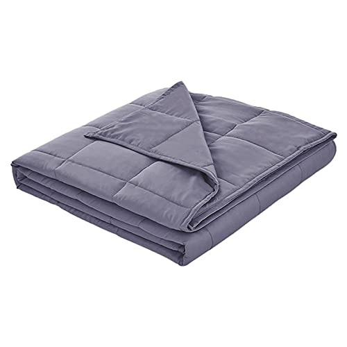 Grey Quilt Weighted Blanket Oversized Quilted Throw All Season Soft Cozy Quilted Blanket Super Soft, Fluffy Available in 3 Sizes (King, 12)