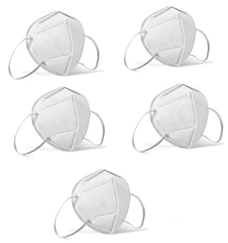 Mediweave KN95 (Equivalent to N95, FFP2) Mask/Respirator,CE certified, Pack of 5