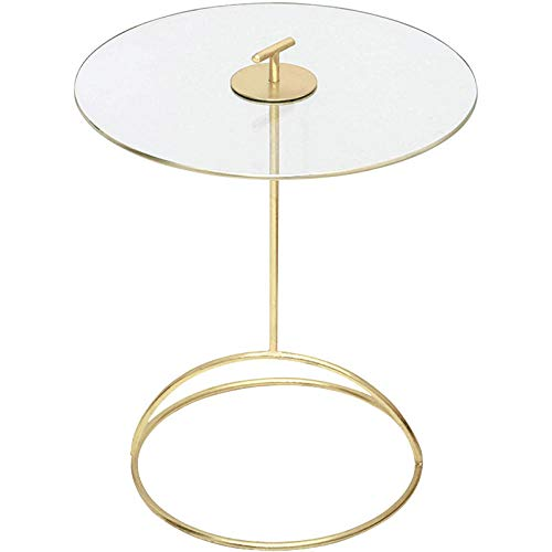 YTSFT moderne gouden salontafel kleine ronde tafel balkon glas nachtkastje bank zijtafel slaapkamer woonkamer hotel locker meubilair eindtafel Tempered Glass