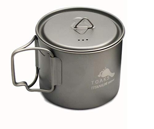 Toaks Mug portable en titane ultraléger, tasse à eau, 550 ml ultra léger.