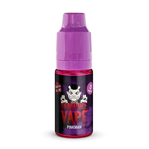 Vampire Vape E Liquid Vape Juice 10 ml 0 mg, elija su sabor (pack de 3)- Sin nicotina (Pinkman, pack de 3)