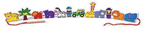 Viga Toys - 59549 - Jouet D'éveil - Blocs À Lacer - Zoo