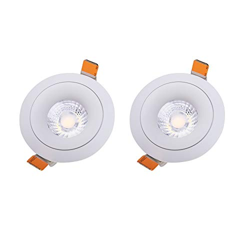 Deckenleuchte 20 Watt Einbaustrahler Brandschutz Energieeinsparung LED Downlight Badezimmer Dekoration Waschen Wandleuchten Wohnzimmer Bild Display Akzentlampen 2er Pack [Energieklasse A ++]