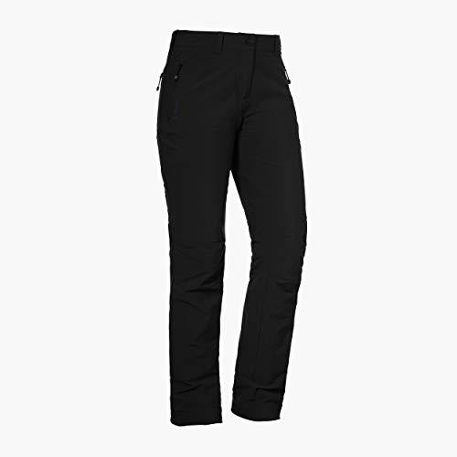 Schöffel Damen Pants Engadin W warme und wasserabweisende Wanderhose für Frauen, komfortable Outdoor Hose mit weichem Futter und höchstem Komfort, schwarz (Black), 38