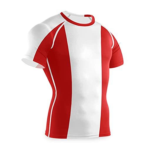 Magnesis Peru Flag - Maglietta a compressione da uomo a maniche corte con strato di base Multi L