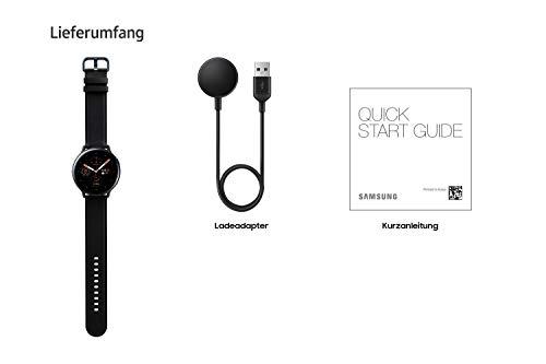 Samsung Galaxy Watch Active2, Fitnesstracker aus Edelstahl, großes Display, ausdauernder Akku, wassergeschützt, 44 mm, LTE, Schwarz