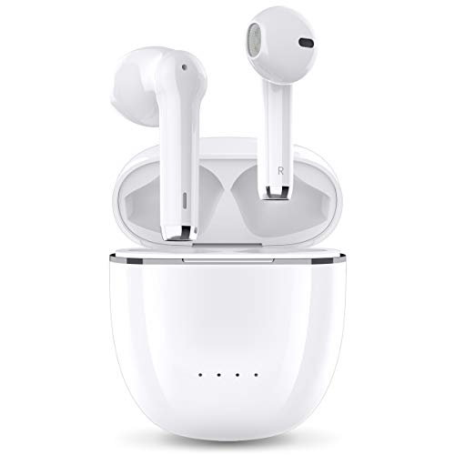 【最新Bluetooth5.2技術 デュアルマイク &CVC8.0ノイズキャンセリンク】 Bluetooth イヤホン ワイヤレスイヤホン 両耳 左右分離型 高音質 APT-X&AAC対応 最大40時間音楽再生 瞬時接続 マイク内蔵 IPX7防水 Siri対応 ハンズフリー 通話 自動ペアリング ブルートゥース イヤホン 技適認証済 iPhone/Android対応