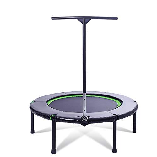 JYTTCE Indoor Safety Mini Gewichtsverlies Trampoline Fitness Lente Touw Professionele Trampoline, Kinderen Volwassen Sporten, Kan Weerstaan 120 KG, 40 Inch, Ronde Yoga benodigdheden trampoline Zwart