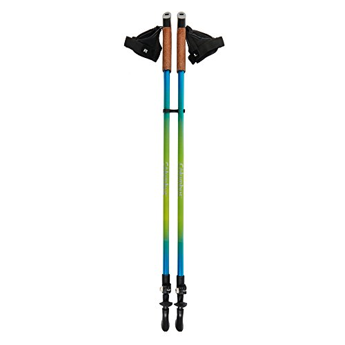 COLUMBUS ND2 Par de Bastones para Marcha nórdica, Unisex Adulto, Azul, Talla Única