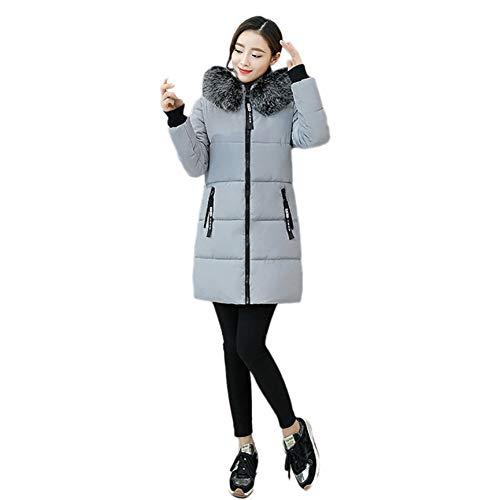 SHANGYI dames winterjas Idicker damesjack gemiddelde lengte warm damesjack slim fit jas met capuchon met dikke kraag