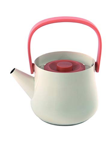Berghoff kombiniert Emaille Wasserkocher Teekanne mit Sieb, Orange