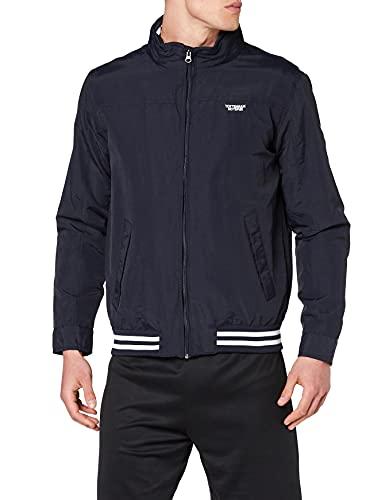 Tottenham Hotspur Herren Stripe Rib Hem Harrington Jacket Jacke, Marineblau, L