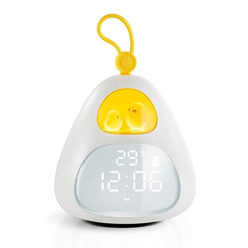 Reloj Despertador para niños, luz de Despertador y luz Nocturna con Cargador USB, Entrenador de sueño para niños, Reloj Despertador Digital de cabecera Beenate para Dormitorio para bebés y niños pequ