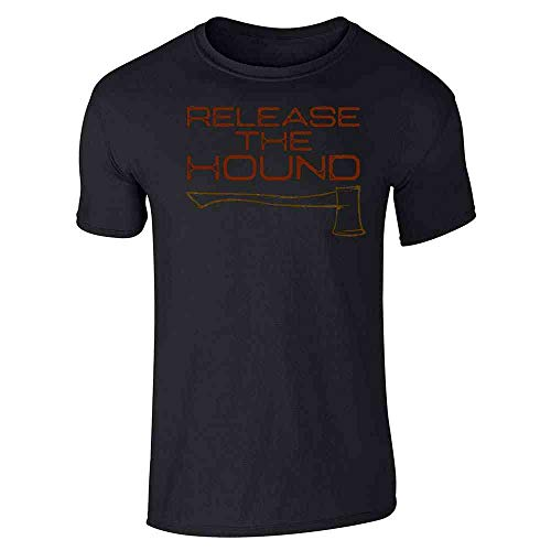 Release The Hound Black L Graphic Tee T-Shirt for Men