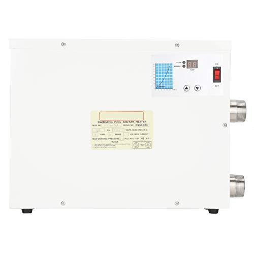Xinde Calentador de Agua eléctrico, Resistente a la corrosión, Tanque de protección contra sobrecalentamiento Calentador de Agua eléctrico, para Piscina, SPA, Jacuzzi, Interiores y Exteriores