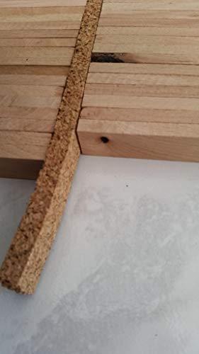 Korkstreifen/Dehnungsfuge/Randleiste aus Kork für Parkett Böden Fenster Türen (25, 14x935x10 mm)