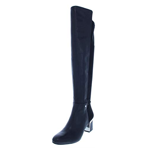 DKNY Frauen Cora Weite Wadenoeffnung Pumps Rund Fashion Stiefel Schwarz Groesse 6 US /37 EU
