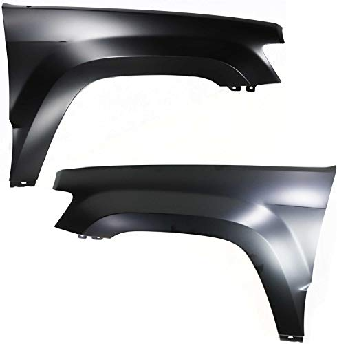 Front Fender Compatible with 2005-2010 Jeep Grand Cherokee Driver and Passenger Side