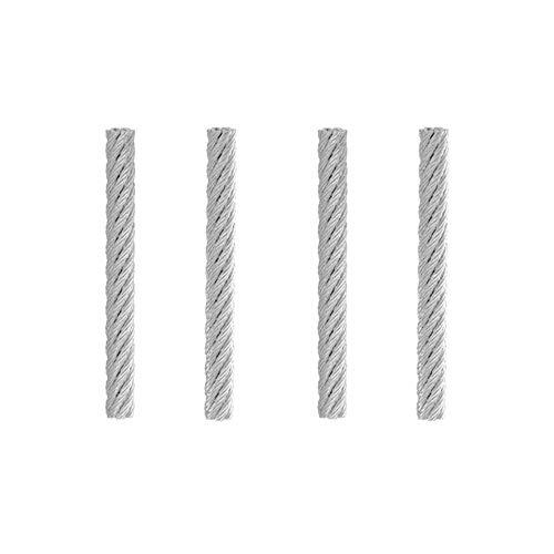 Brunhilde Edelstahldochte (4 Stück) 3mm