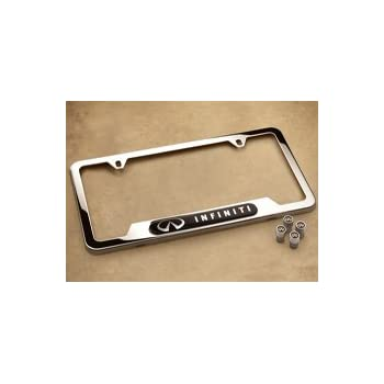 Infiniti Q50 Engraved Chrome Plated Metal License Plate Frame Holder Baronlfi