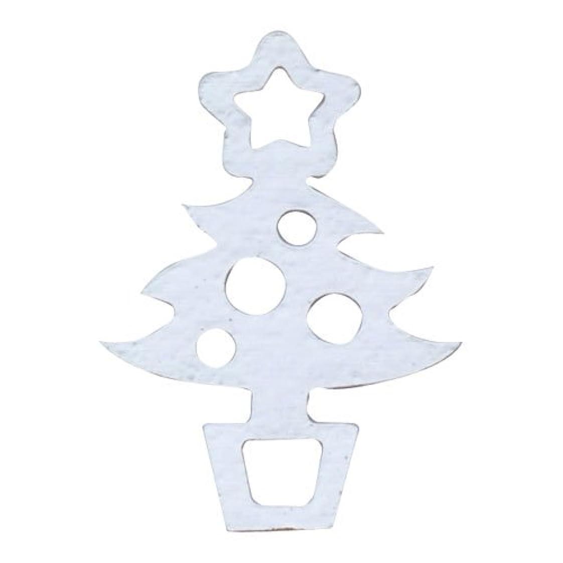 絶対の明日デモンストレーションリトルプリティー ネイルアートパーツ クリスマスツリー シルバー 10個