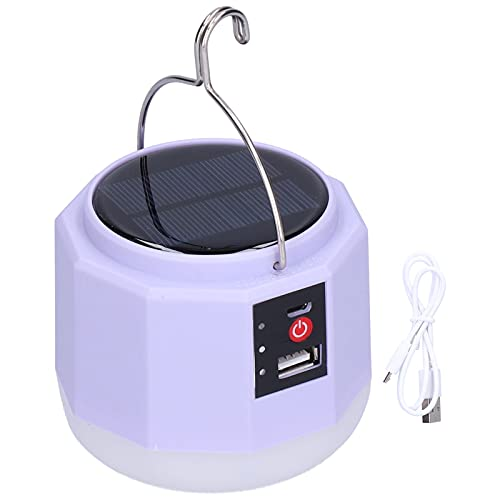 01 Luz de Emergencia Solar, Interfaz USB Lámpara portátil LED para el hogar Iluminación para Exteriores Multifuncional de Ahorro de energía para Tiendas de campaña para Acampar para Exteriores