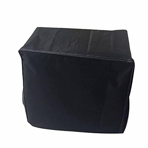 KUAIE Cubierta Impermeable Poliéster Oxford Cubiertas Protectoras A Prueba de Polvo Usar para Silla, Jardín, Negro, Rectangular, 31 Tamaños (Color : Negro, Size : 365x165x125cm)