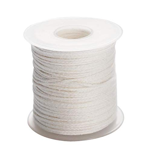 Wang shufang 1pc 61m Environmental Spool of Cotton Braid Candle Wick Core for Birthday Candles Non-Smoke DIY Oil Lamps Candle Making Supplies (Color : A)