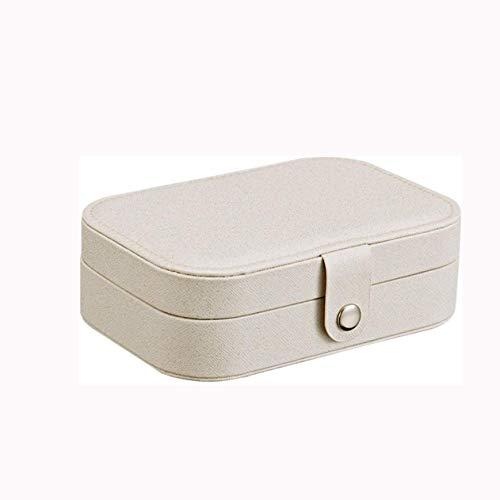 SMEJS Aufbewahrungsbox, Schmuckschatulle, Kunstleder Schmuck-Box for Mädchen, beweglicher Schmuck Koffer Storage Racks for Ringe