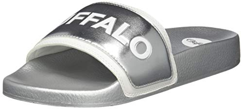 Buffalo Damen JOLA Pantoletten, Silber (Silver 001), 38 EU