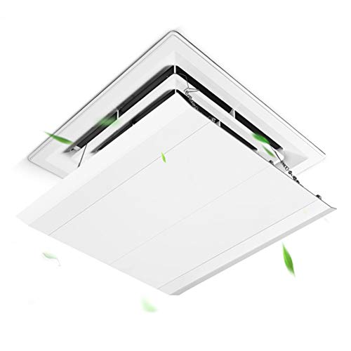 Liveinu Canvas Air Deflector Adjustable Reusable Heat and Air Deflector for Drop Ceiling Vents RV, Home HVAC, AC and Ceiling Registers Air Conditioner Deflector White 23'x23' Inch