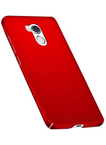 Tianqin Funda Xiaomi Redmi 4Pro, Ultra-Delgado Carcasa Protectora Ultra Ligera PC Plástico Duro Case Anti-Rasguños Parachoque Estilo Simple para Xiaomi Redmi 4Pro Estuche - Rojo