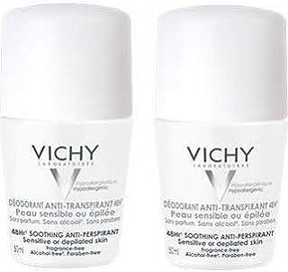 Vichy - Desodorante enrollable antitranspirante, 48 horas doble pack