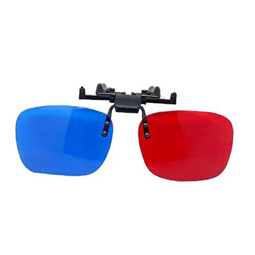 Aisoway Uso Multi Vision gafas rojo-azul gafas anaglifo 3D 3D para TV juego de la película DVD de vídeo