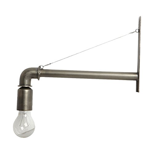 Wandlamp pijp staal mat