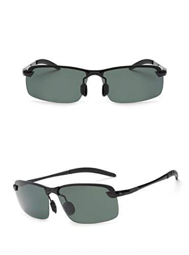 Único Gafas de Sol Sunglasses Gafas De Moda para Hombre Gafas Uv400 Al Aire Libre Sin Montura Nueva Aleación De Aluminio